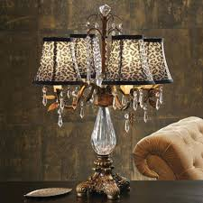 Bling Large Chandelier Table Lamp Crystal Chandelier Table Lamp With Drum Shade Black