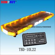 warning light bar amber tbd 10l22 led car lightbar amber white emergency warning light bar
