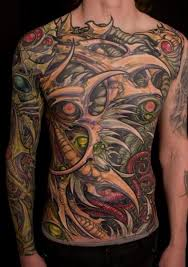 biomechanical tattoo face biomechanical face tattoo on chest photo 3 photo pictures and