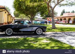 1961 chevy corvette a 1961 chevy corvette at a car in chatsworth california stock