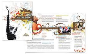 church youth brochure template design