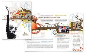 Church Programs Templates Church Youth Group Brochure Template Design