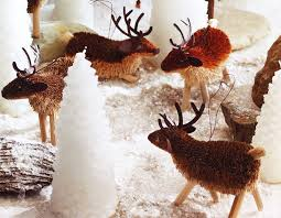 santa s reindeer bottlebrush tree ornaments nova68