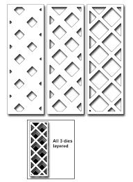 frantic stamper precision die layering trellis strips