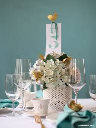 Table Numbers Wedding Watercolor Teal Wedding Table Numbers Lia Griffith