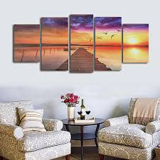frameless modern canvas picture path oil painting home wall