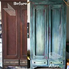 3 Vintage Furniture Makeovers For by The Turquoise Iris Furniture U0026 Art Antique Armoire Diy Paint