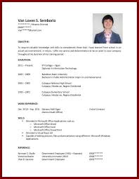 college graduate resume template resume for high students