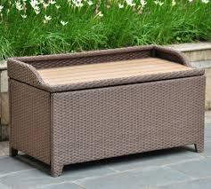 Wicker Storage Bench Best Wicker Patio Storage Deck Boxes With Seats Discount Patio