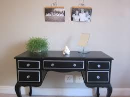 Bedroom Vanity Table Diy Black Bedroom Vanity Table With 5 Drawers Decofurnish