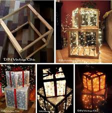 diy lighted outdoor christmas decorations lighted christmas presents decorations christmas pinterest