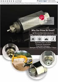 hyundai excavator valve pressure control main u0026 assy