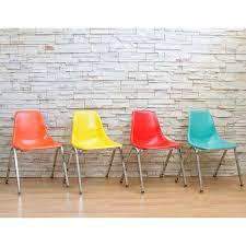 Yellow Retro Kitchen Chairs - stacker chairs fiberglass chairs retro furniture retroplanet com