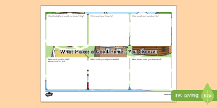 what makes a good home houses and homes what makes a good home you choose worksheet