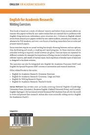 How To Write A Good Research Paper English For Academic Research Writing Exercises Writing