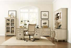 White Home Office Desks Furniture Shabby White Wooden Home Office Desk With Drawers And