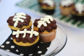 football cupcakes serve it simple football cupcakes thoughtfully simple