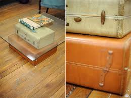 Suitcase Coffee Table Diy Furniture Ideas Turning Suitcases Into Fancy Furniture