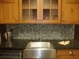 travertine backsplash with glass accents stone feature wall tiles