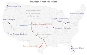 Chicago United States Map by Map Of The 11 Proposed Hyperloop One Routes In The United States