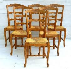 Dining Chair Cherry 6 French Provincial Vintage Cherry Rush Seat Dining Chairs Louis
