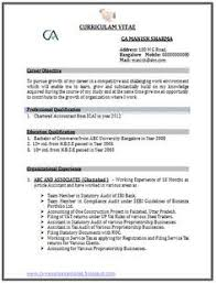 Fresher Accountant Resume Sample by Chartered Accountant Resume Format Freshers Page 2 Cv Examples