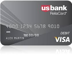 bank prepaid debit cards usbank reliacard