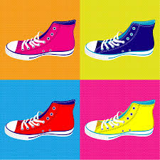 pop art sneakers wall stickers mural totally movable pop sneakers wall stickers jpg