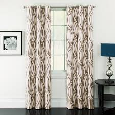 Overstock Blackout Curtains Window Accents Celestina Wave Jacquard Grommet Panel Pair Hayneedle