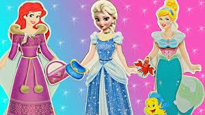 frozen elsa magnetic doll dress mermaid ariel disney
