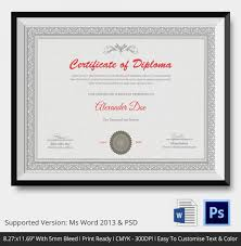 diploma certificate template 26 free word pdf psd eps