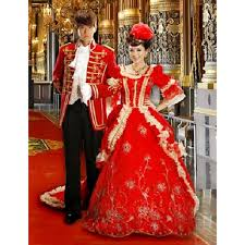 Victorian Dress Halloween Costume Creative Red Historical Victorian Era Couples Costumes