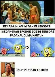 Meme Komik Spongebob - meme yang menyindir penghapusan spongebob oleh kpi