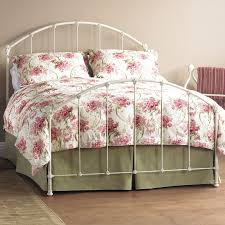 decorate white rod iron bed frame bed and shower