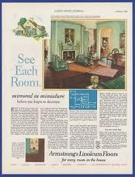 home decor ads vintage 1929 armstrong s linoleum floors flooring home decor print