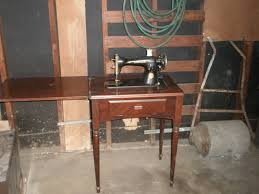 Singer Kitchen Cabinets by Vintage Singer Sewing Machine With Wood Cabinet Bar Cabinet