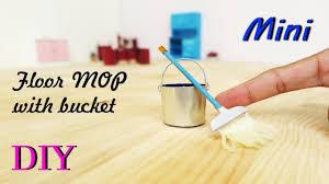 Diy Laminate Floor Cleaner by Diy Miniature Floor Cleaning Mop With Metal Bucket Dollhouse