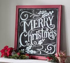 merry christmas signs merry christmas chalkboard sign wall pottery barn