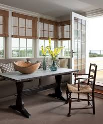 dining room colonial interior with breakfast nook feat round