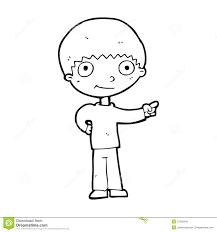 cartoon happy boy pointing royalty free stock image image 37026346