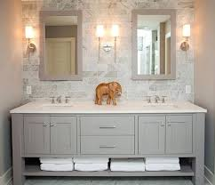 Vanity With Carrera Marble Top Vanities Austell 67 In Double Vanity In White With Natural