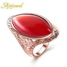 opal rings wholesale images Ajojewel free shipping orange opal jewelry hollow design fashion jpg