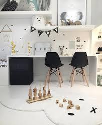 jeux de au bureau chambre enfant kidsroom blanc noir white black aire de jeux
