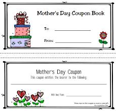 sally u0027s coupons free printable mother u0027s day coupon book templates