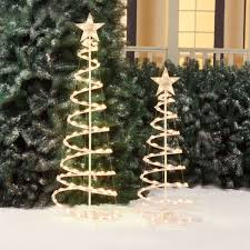 holiday time lighted spiral christmas tree sculptures clear