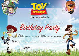toy story buzz woody kids children birthday party invitations pack