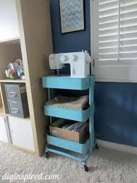 Closet Craft Room - storage for kitchen kitchen storage sewing cart crafts for