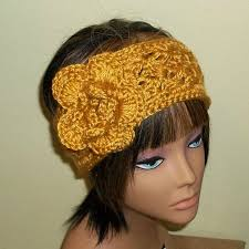 crochet hair band sale earwarmer flower headband gold crochet hair band adjustable