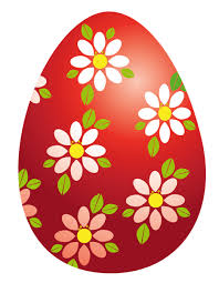 Decorated Easter Eggs Clip Art by Easter Yellow Egg With Flower Decoration Png Clipart Picture