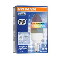 colored light bulbs lowes shop sylvania color changing led b10 specialty light bulb at lowes com